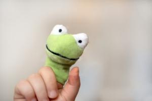 Willkommen Frosch